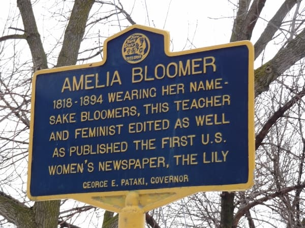 Amelia Bloomer was one of the take-charge Victorian women of Seneca Falls. Photo by Laura Byrne Paquet.