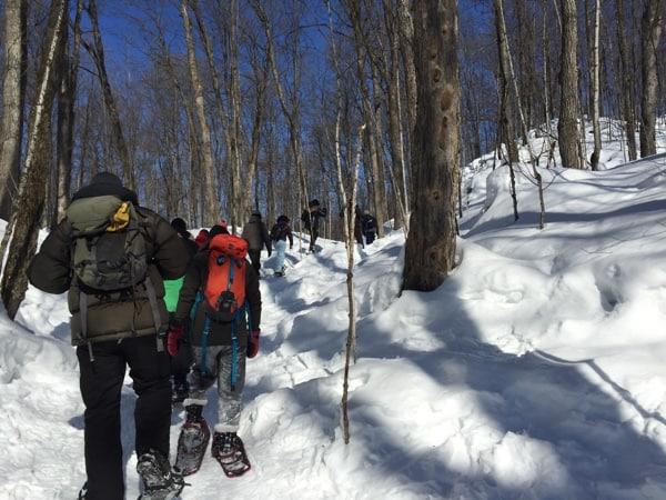 snowshoeing snowshoe Gatineau Park Ottawa Outaouais