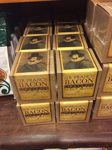 Zeb's General Store is full of weird and wonderful things, like bacon chocolate peanut brittle. Photo copyright Laura Byrne Paquet.