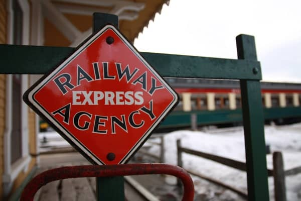 All aboard! I want to come back to North Conway and ride the rails. Photo copyright Laura Byrne Paquet.