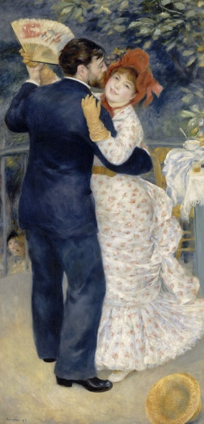 Dance in the Country, 1883, by Pierre-Auguste Renoir (Musée d'Orsay, Paris)