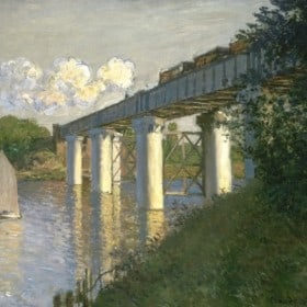 Railroad Bridge, Argenteuil, 1874, by Claude Monet (John G. Johnson Collection, 1917, cat. 1050)