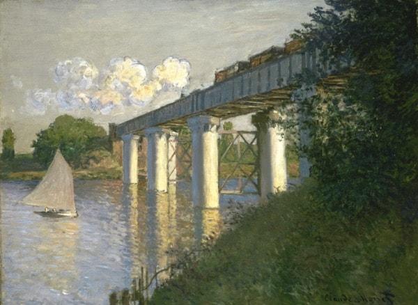 Railroad Bridge, Argenteuil, 1874, by Claude Monet (John G. Johnson Collection, 1917, cat. 1050)