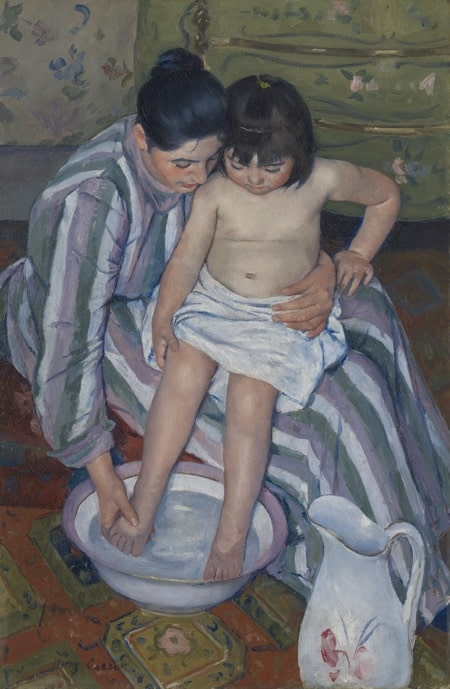 The Child's Bath, 1893, by Mary Stevenson Cassatt (The Art Institute of Chicago: Robert A. Waller Fund)