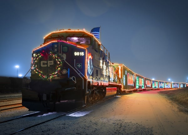 Photo courtesy of the CP Holiday Train.