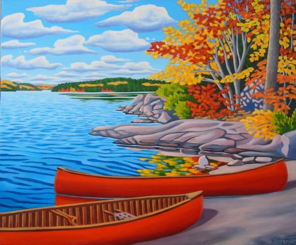 Life is Good by Linda Sorenson is among the works that will be featured during the Madawaska Studio Tour. Image courtesy of Linda Sorenson.