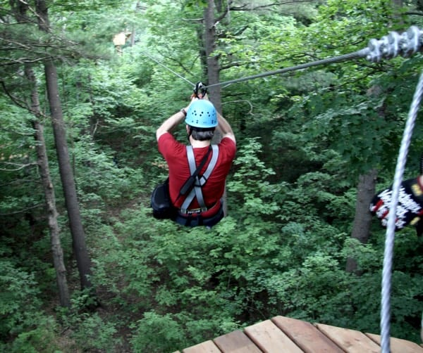 Skywood Eco Adventure Park zipline Brockville