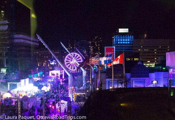 Nuit Blanche Montreal Ferris wheel Quartier des Spectacles