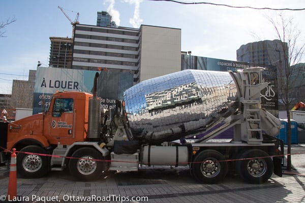 disco cement truck mixer Nuit Blanche Montreal