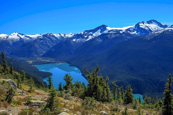 Whistler British Columbia mountains lake summer
