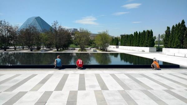 Aga Khan Museum reflecting pool Toronto