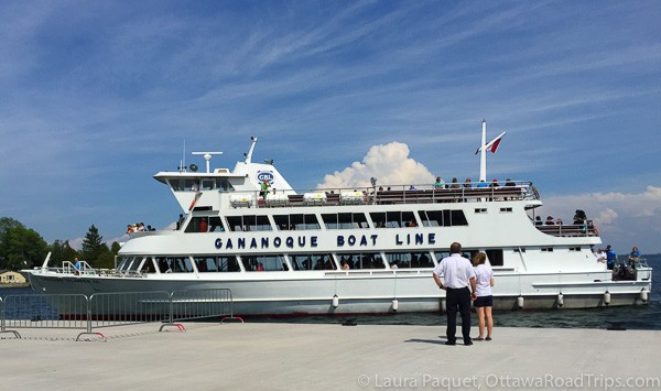 The Gananoque Boat Line cruises the 1000 Islands (Thousand Islands).