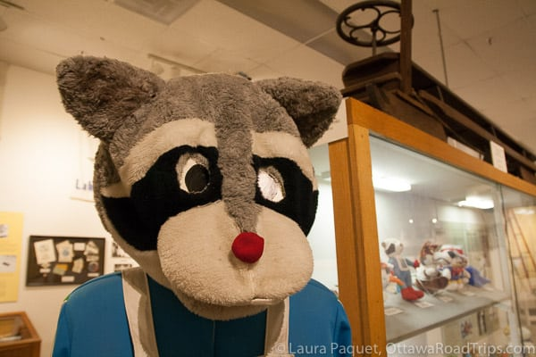 A slightly worn out Olympic mascot is among the mementos at the Lake Placid Olympic Museum.