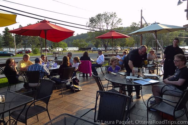 The patio at Nonna Fina in Saranac Lake is a relaxing place for an Italian meal.