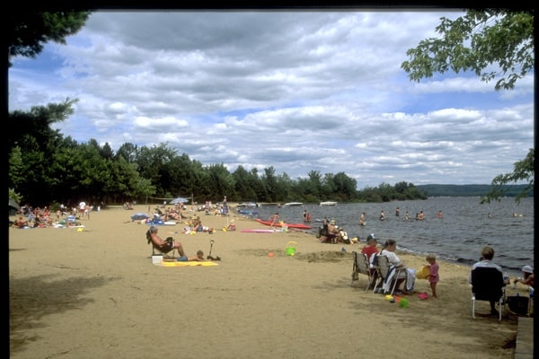 beach at Bonnechere Provincial Park