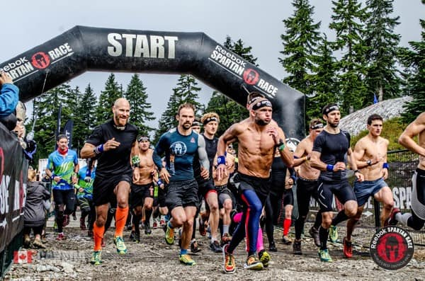 Photo of a Spartan race in Vancouver
