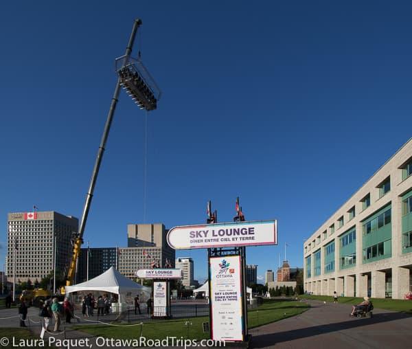 Sky Lounge aloft on Marion Dewar Plaza at Ottawa City Hall.