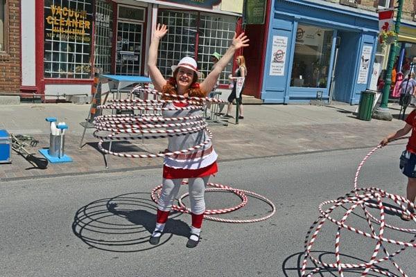 Hula hooper at Brockville Downtown Fun Fest.