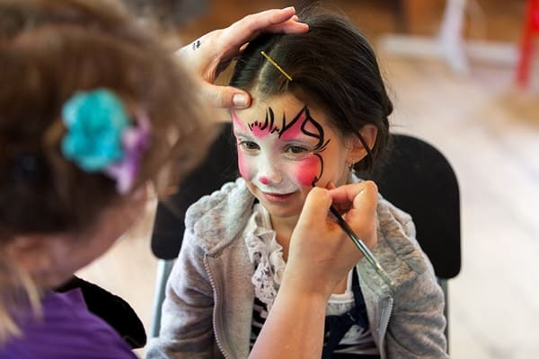 Face painting at the Mackenzie King Estate