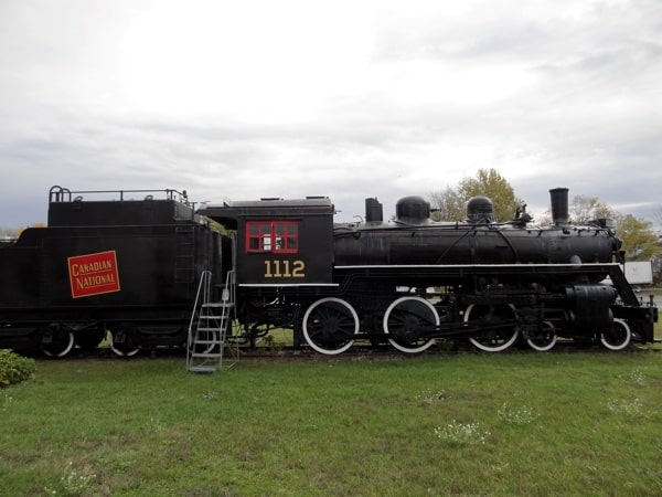Old steam train 1112 at the Railway Museum of Eastern Ontario in Smiths Falls.
