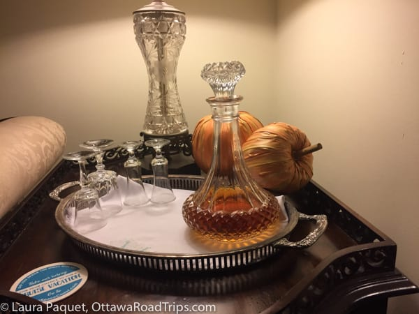 Decanter of brandy at Windemere Inn by the Sea in Indialantic, Florida.