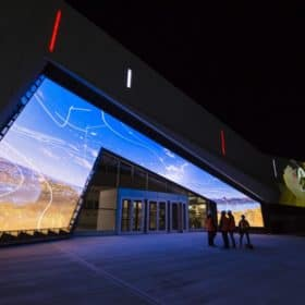 The Canada Science and Technology Museum reopens on November 17, 2017, after a three-year, $80-million renovation. Here's the glowing new entrance.