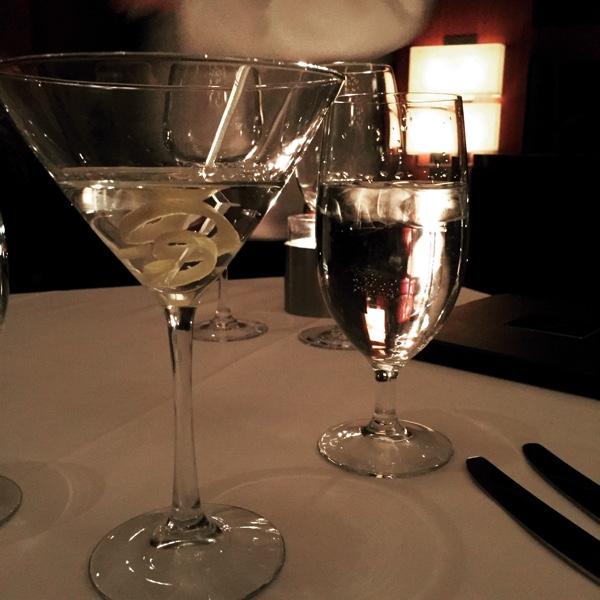 Martini with a lemon twist.